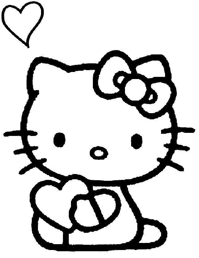 Dibujos Para Pintar De Corazones Dibujos Para Colorear De Corazones Hello Kitty Imprimible Cosas De Hello Kitty Hello Kitty Halloween