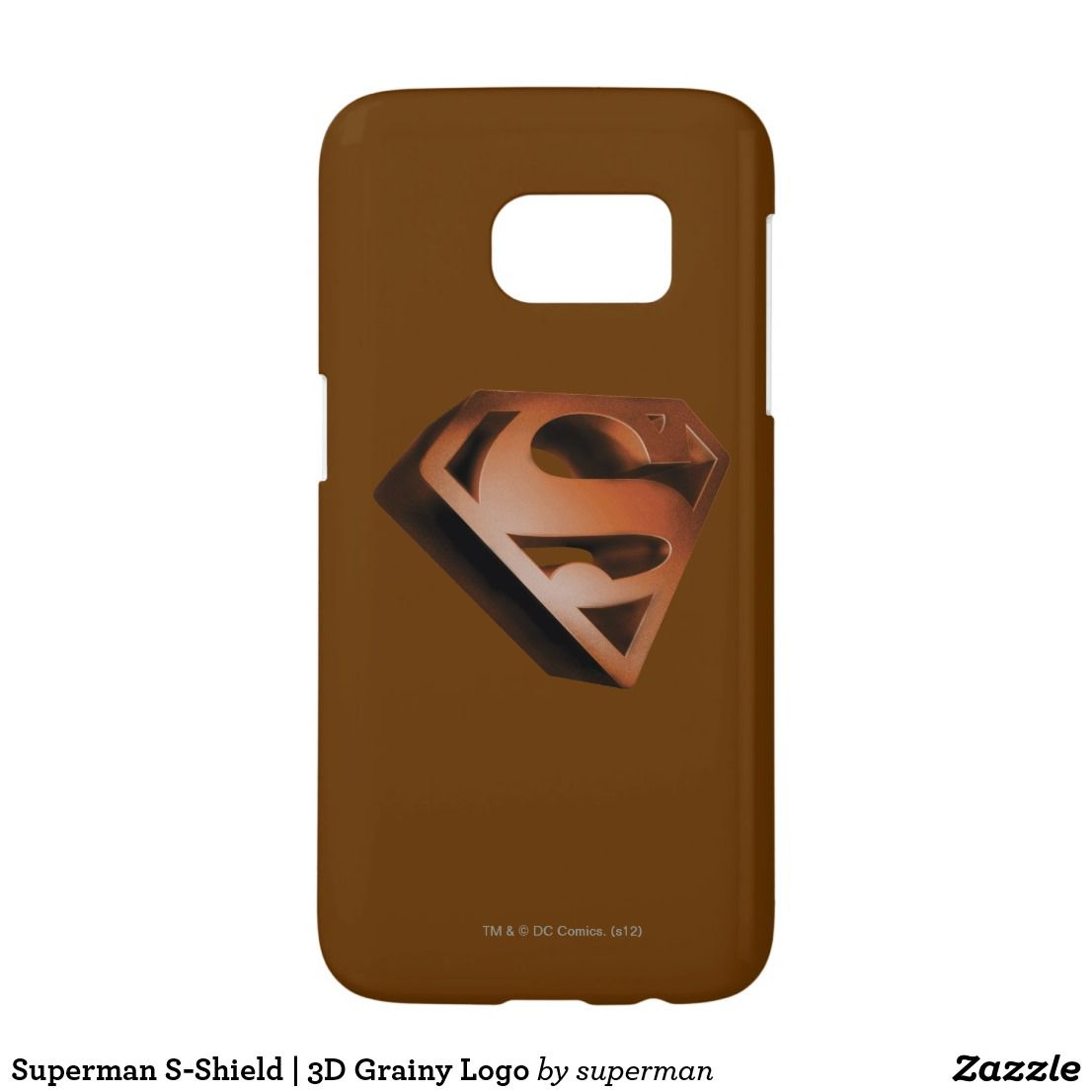 Superman S Shield 3d Grainy Logo Samsung Galaxy S7 Case Superman