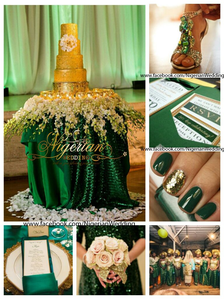 Plus Getting To Your Wedding Reception Seeing The Rich Emerald Green Gold Tableware