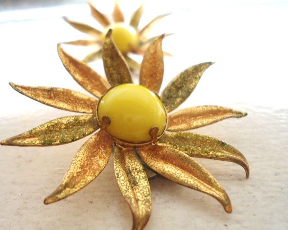 Mid Century Jewelry Free Shipping Yellow Gold by Sweetlakevintage, $18.00