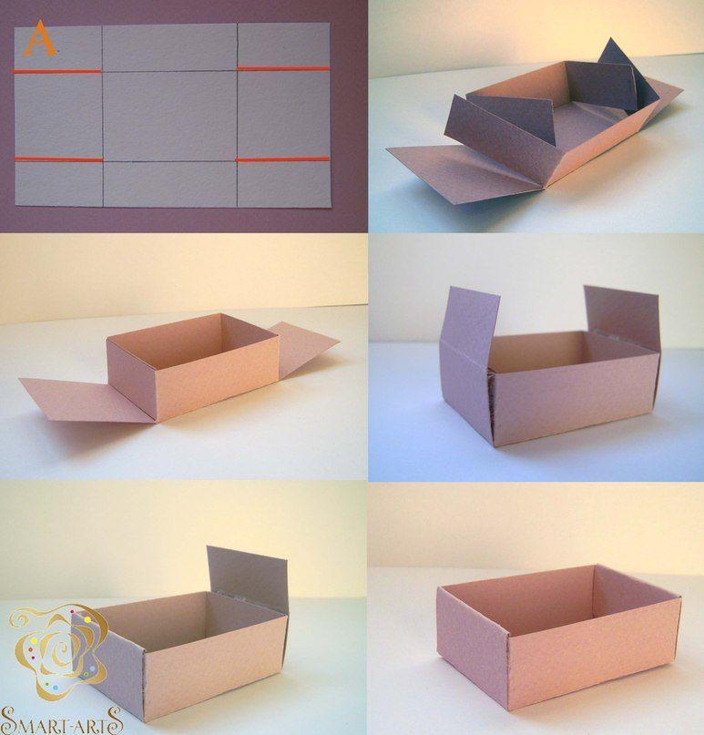 Как сделать из бумаги коробку фото 927