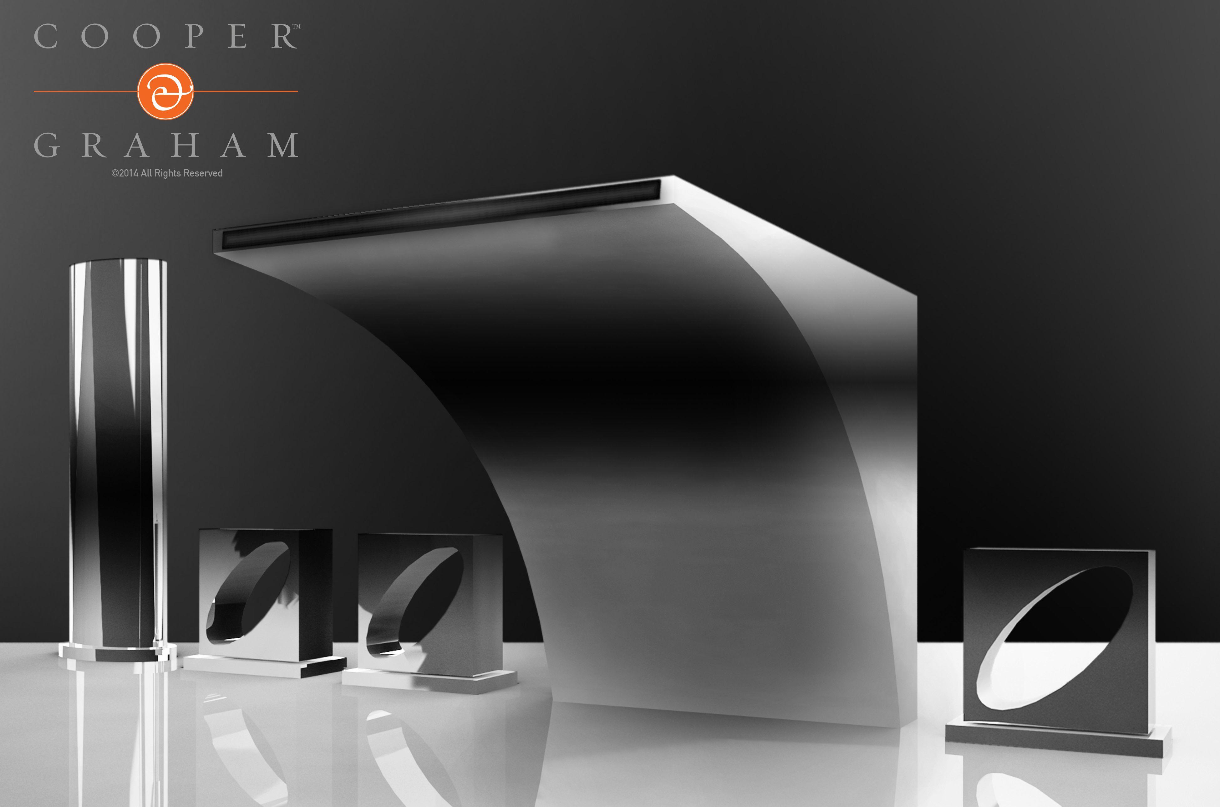 Ellipsis deck mounted bath faucet by C&G | faucet | Pinterest ...