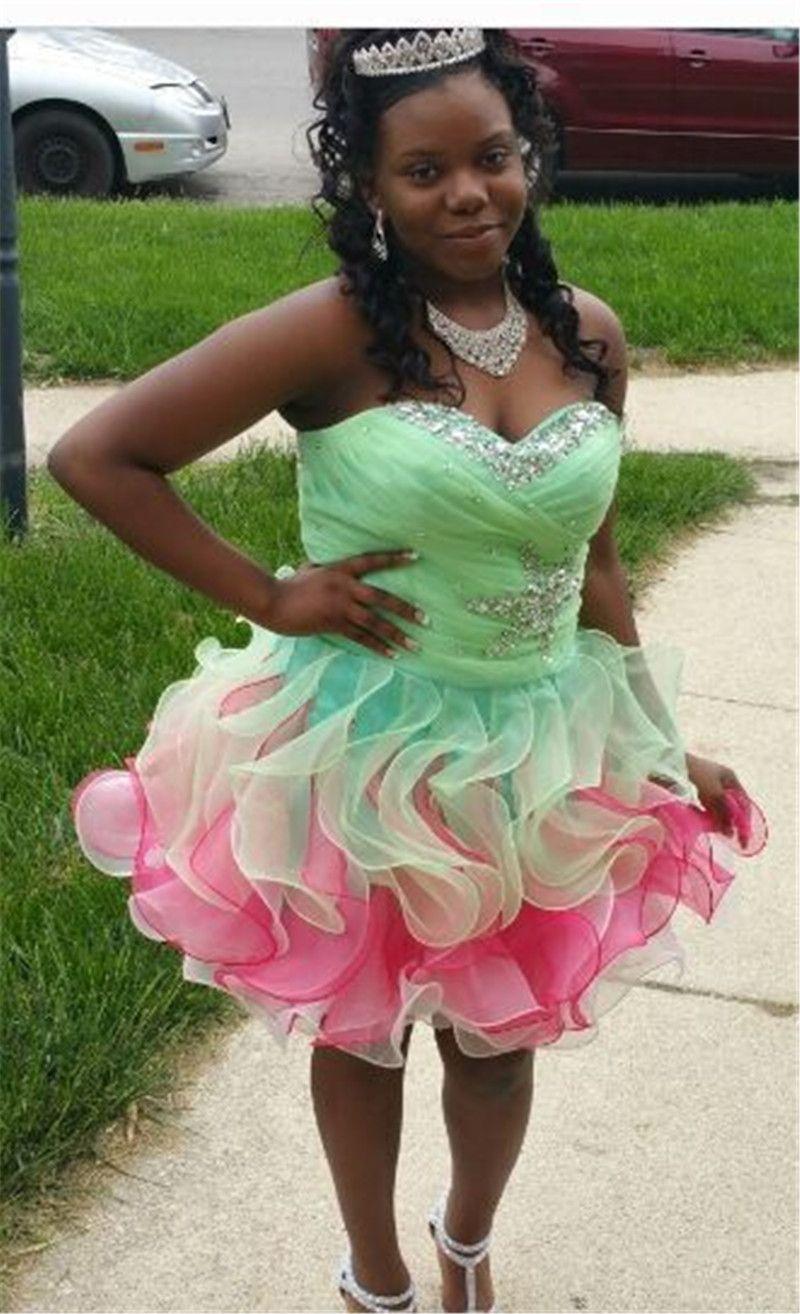 Short Corset Homecoming Dresses 2016 Vestidos De 15 Anos Cortos