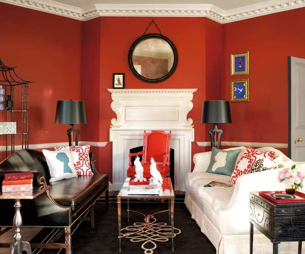 Best Of The Week 9 Instagrammable Living Rooms: Color Of The Month, June 2014: Cayenne