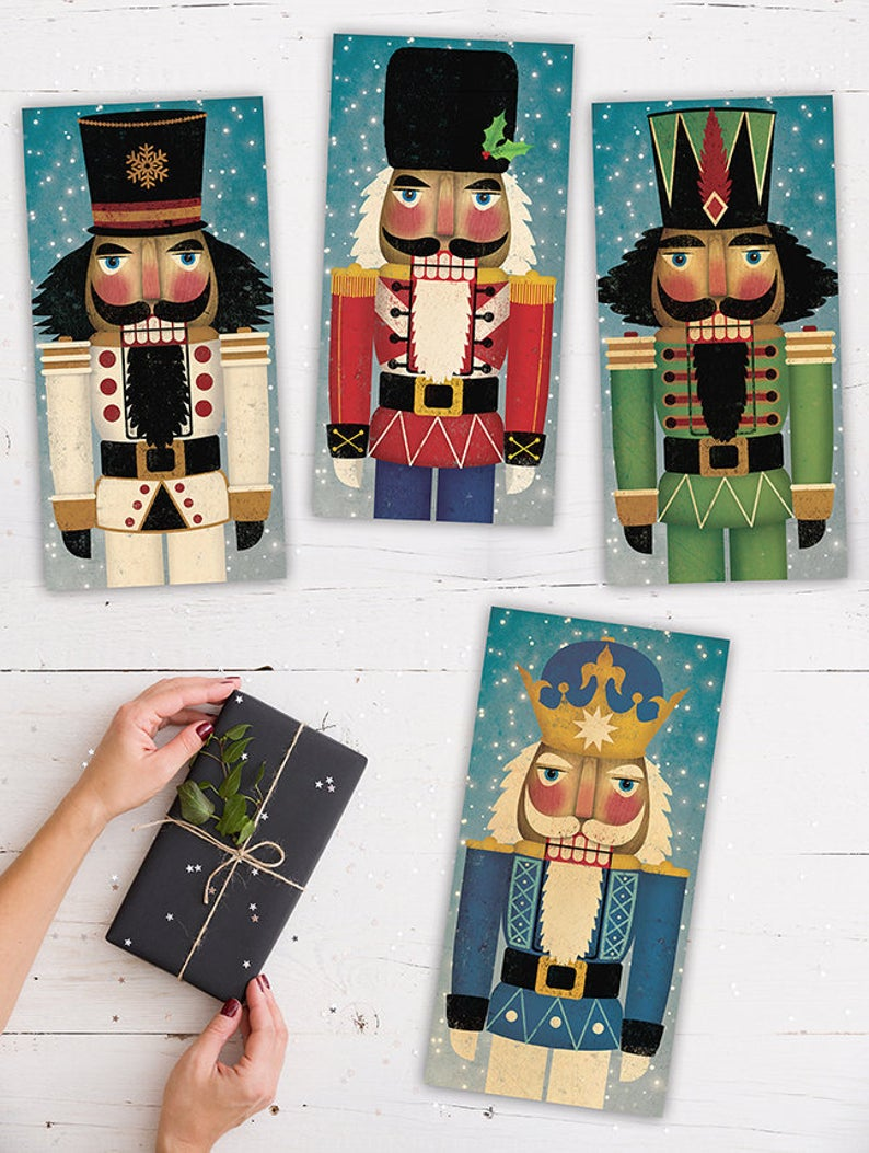 Nutcracker Stretched Canvas Wall Art Ready To Hang Signed Etsy Stretched Canvas Wall Art Stretch Canvas Wall Art
