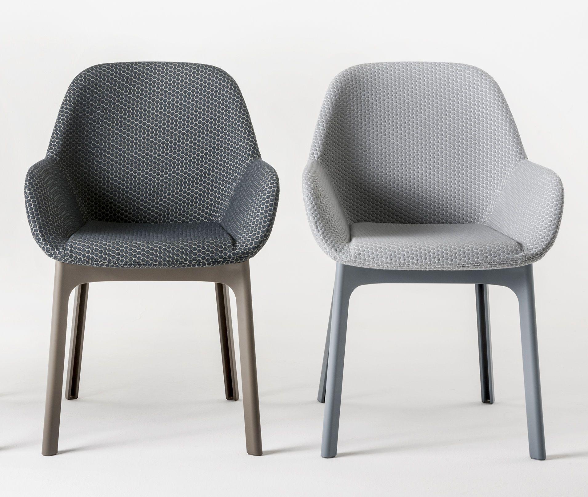 Fauteuil Rembourre Clap Kartell Noir Beige Made In Design Mobilier Design Petit Fauteuil Mobilier