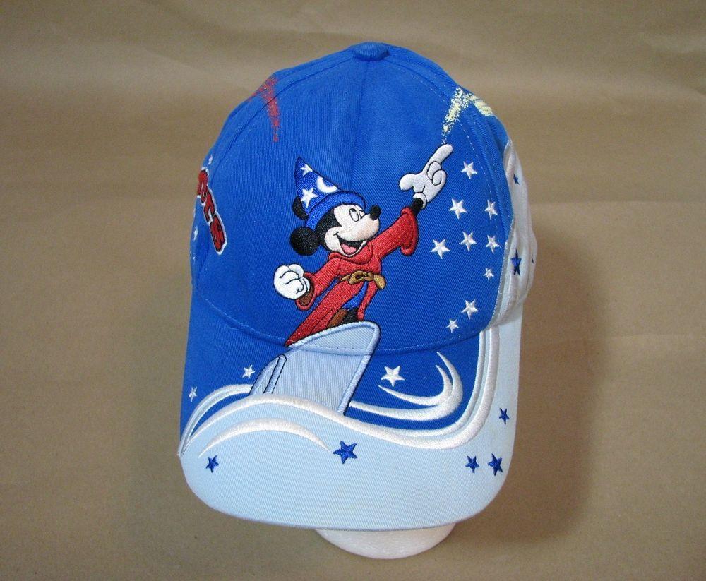 34e9e6f169190a Disney World Mickey Mouse Sorcerers Hat Ball Cap Hook & Loop Youth  #WaltDisneyWorld
