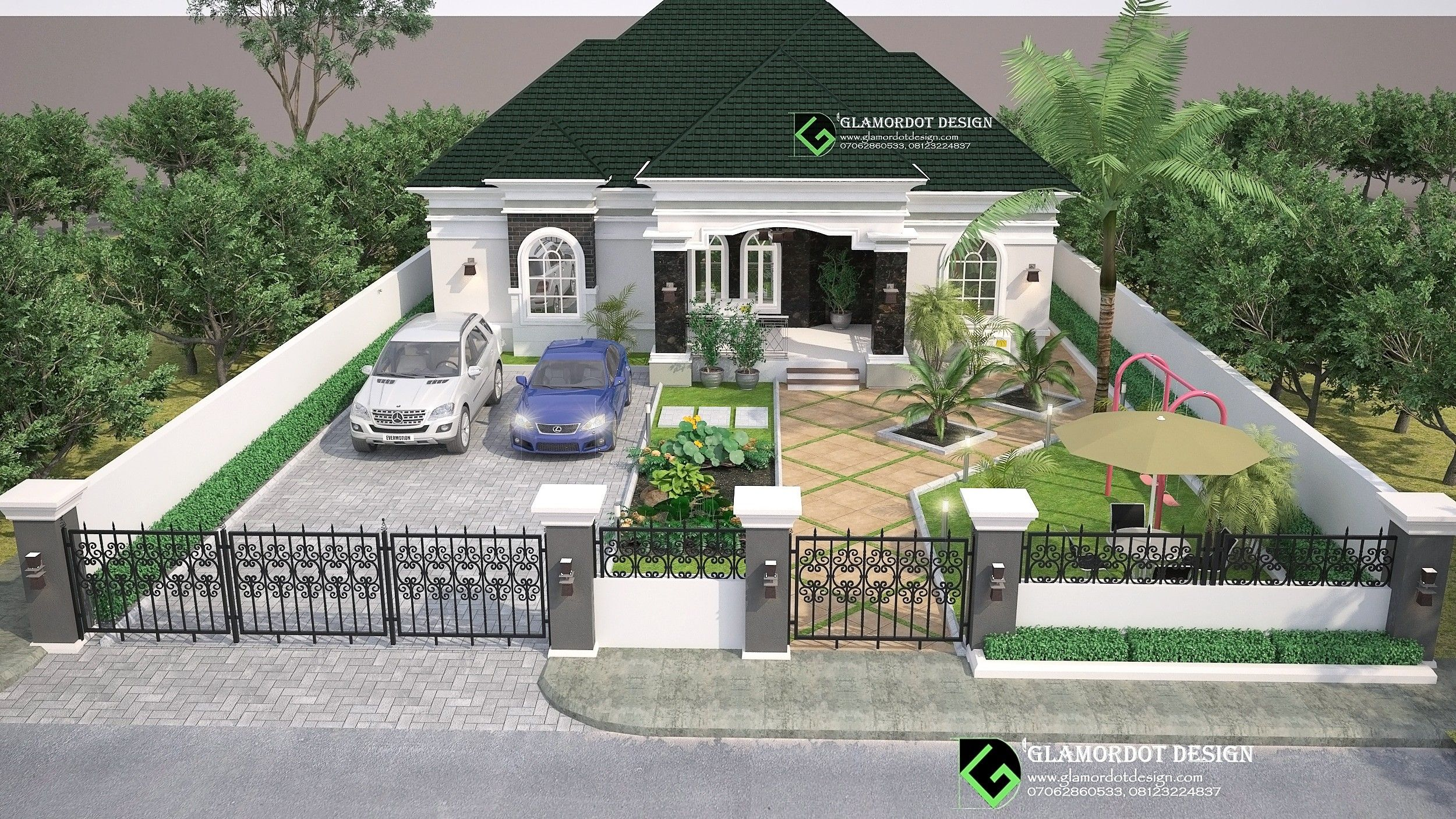 3 bedroom Bungalow house plan, Port Harcourt Nigeria. For ...