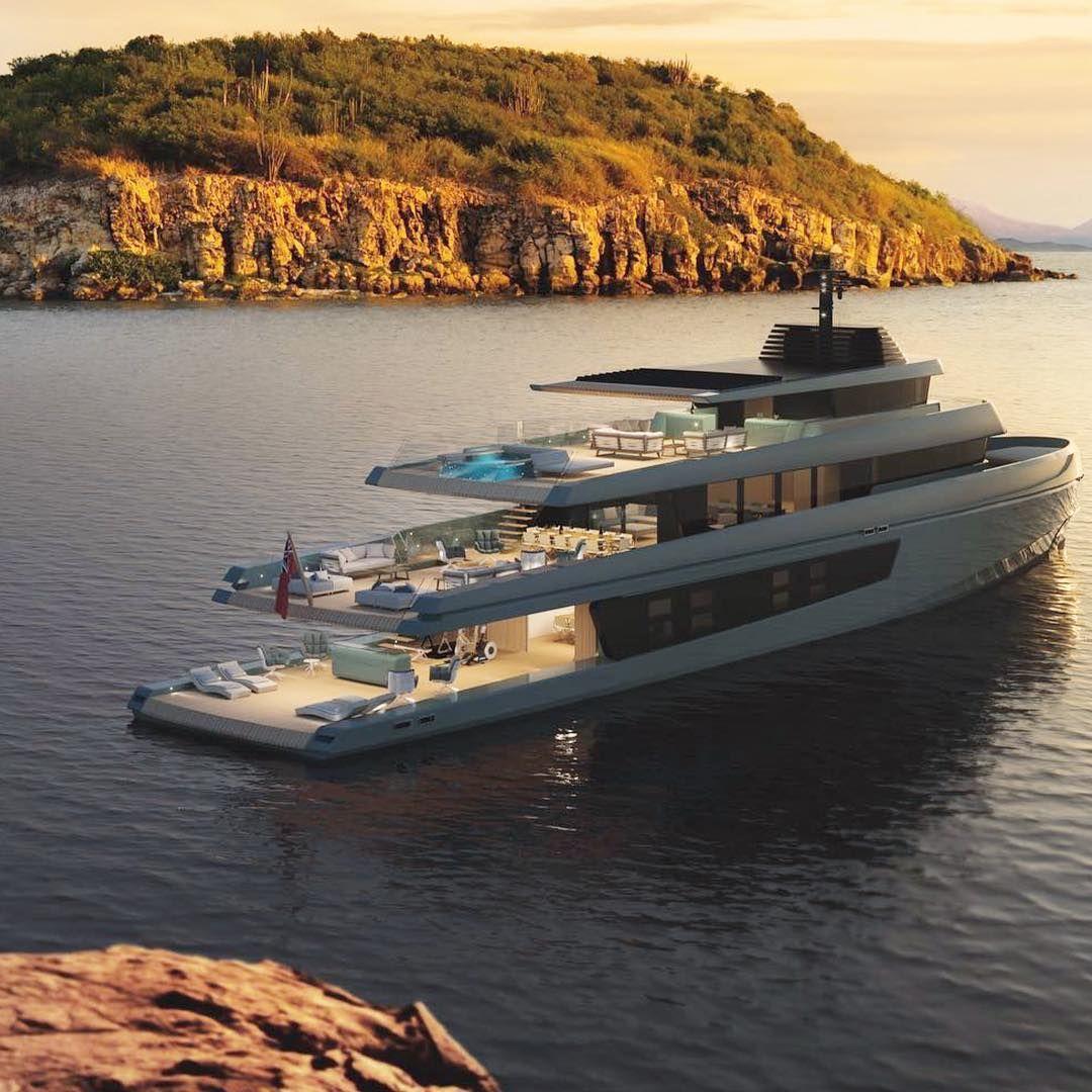 Onlyforluxury On Instagram What Do You This Mega Yacht Design