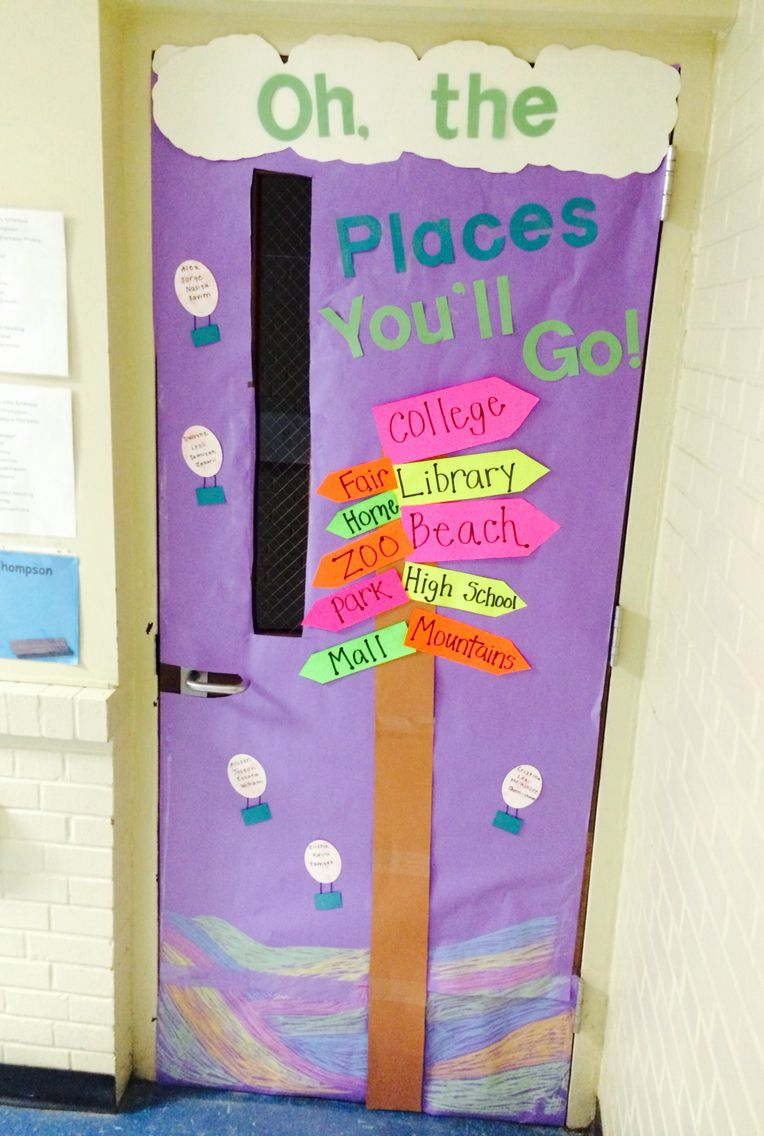 Dr Seuss Door Decoration Oh The Places Youll Go Elem Lesson