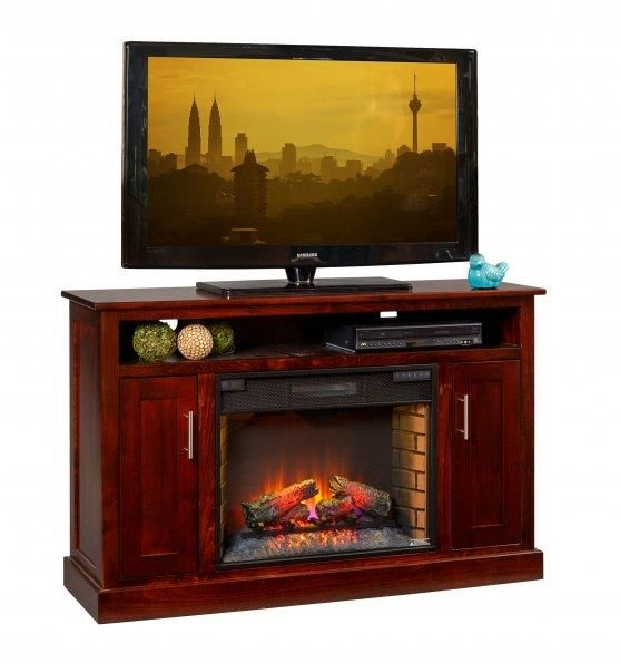 Amish Elm Park 57 Electric Fireplace Tv Stand In 2019 Tv Stands