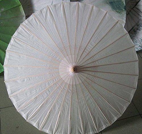 Ppower Paraguas estilo japonés chino bambú Sombrilla Paraguas de danza (Blanco) - http://comprarparaguas.com/baratos/japoneses/ppower-paraguas-estilo-japones-chino-bambu-sombrilla-paraguas-de-danza-blanco/