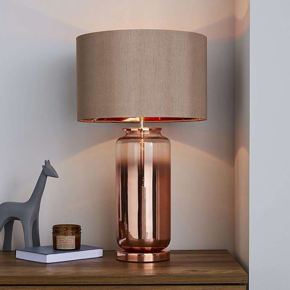 Copper Table Lamp Base