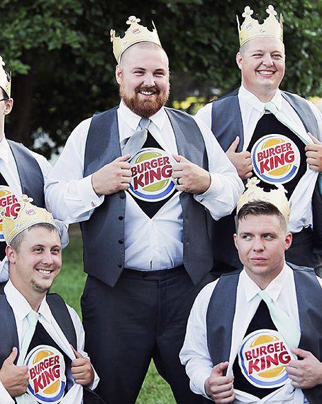 Burger King Wedding Looks Like A Whopper Of A Good Time Pics Details Burger Wedding Looks Burger King