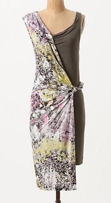 Anthropologie Crushed Chroma Dress by Leifsdottir