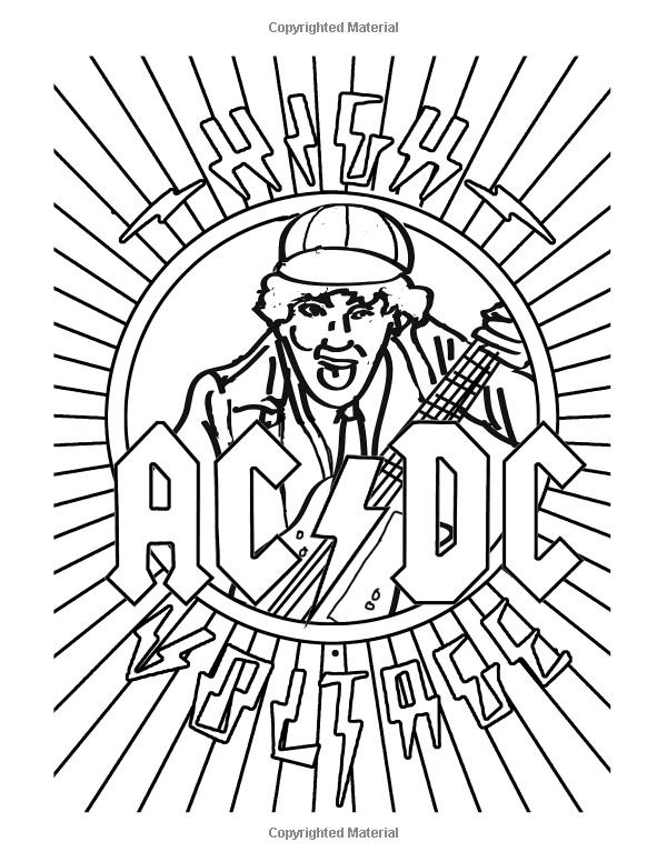 Rock and roll coloring pages free ~ Color Me Rock & Roll: Coloring book about classic rockers ...