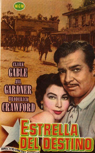 LONE STAR (1953) - Clark Gable - Ava Gardner - Broderick Crawford - MGM - Italian movie poster.