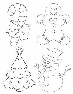 11 moldes para hacer muñecos y adornos navideños en fieltro.