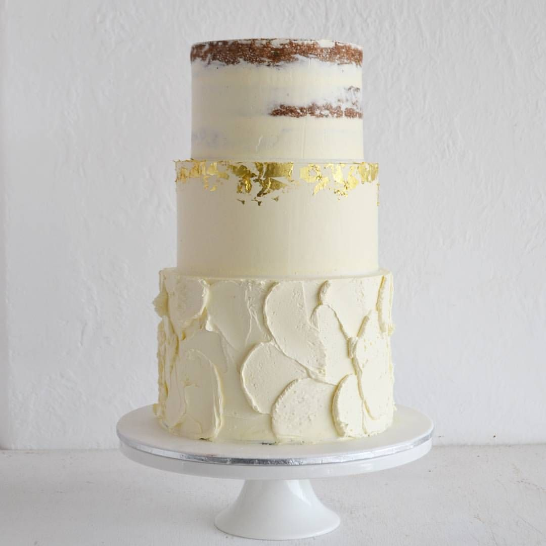Loved Making This 3 Tier Ercream Cake With Touches Of Gold Leaf Ready