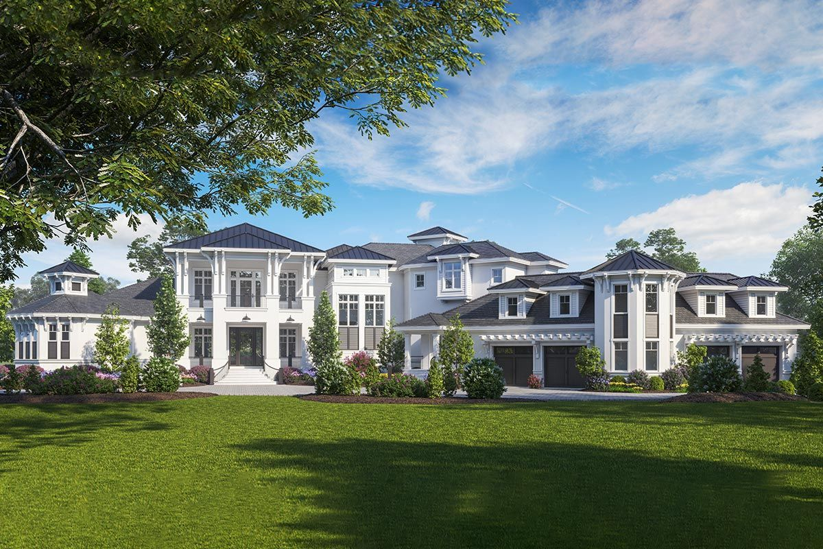 Plan 66388we Luxury New American House Plan With Two Master Suites And An Elevator American Houses American Style House House Plans