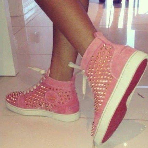 christian louboutin shoes pink
