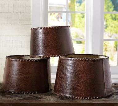 Give Lighting A Rustic Update With This Leather Shade Detailed
