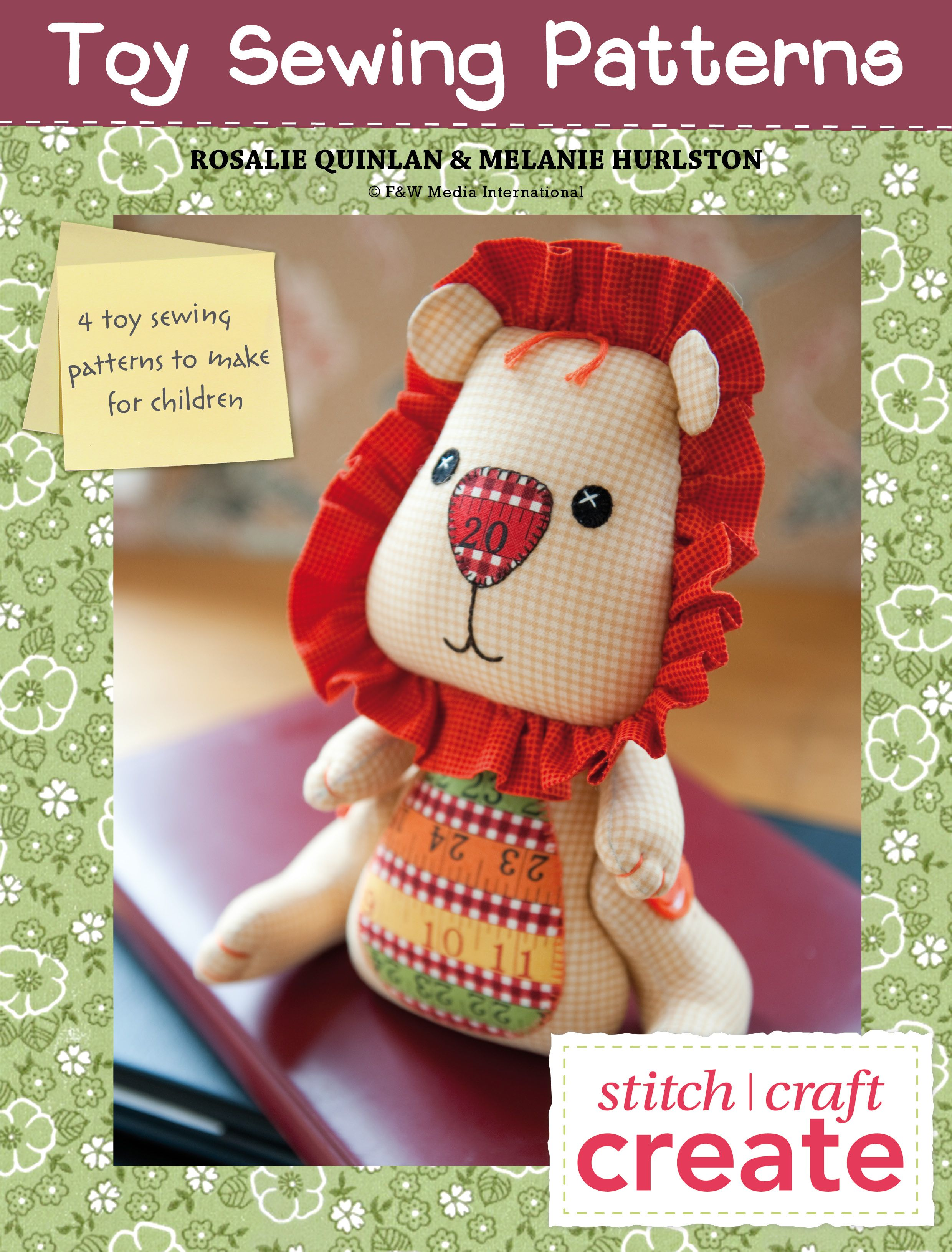 Free eBook featuring 4 Toy Sewing Patterns that you will love to make again  and…