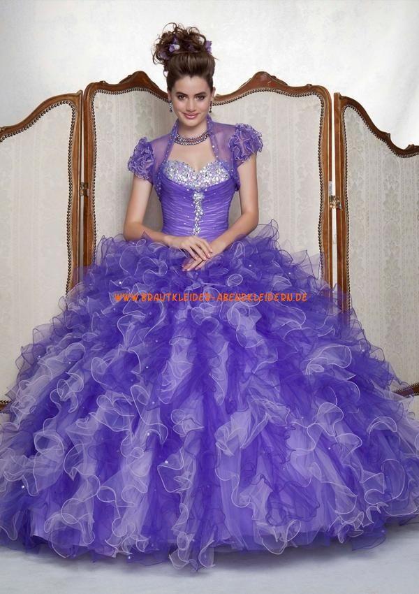 Luxuriöse Abendkleid Ballkleid für Prinzessin mit Perlenstickerei online 2013