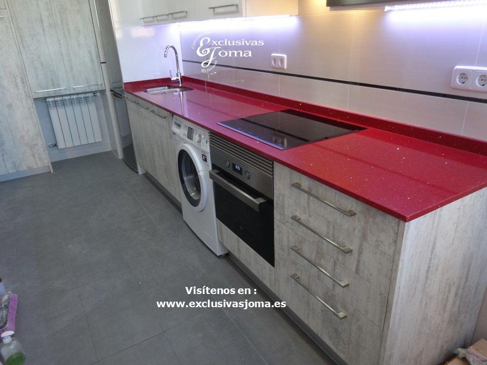 Reforma de cocina integral de piso en sector foresta en for Encimera blanco cristal