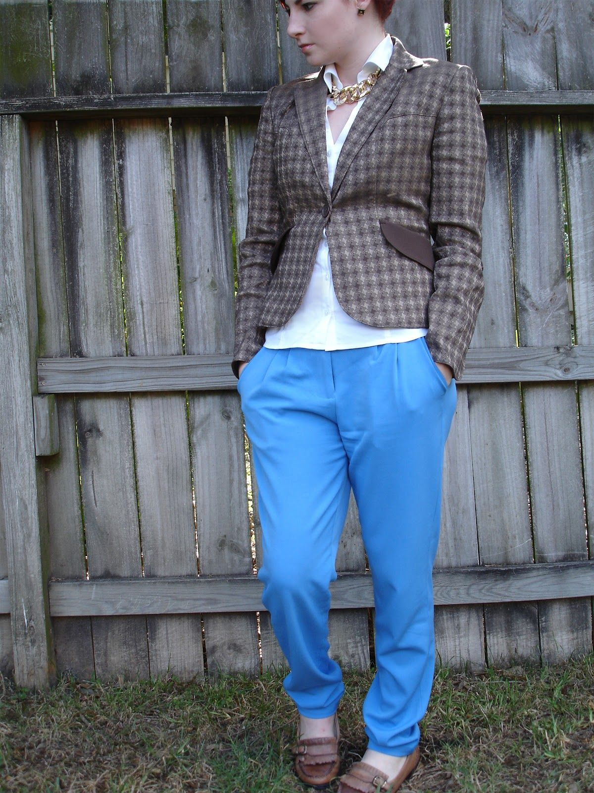Youngcreativeprofessionalstyle brown houndsthooth young creative