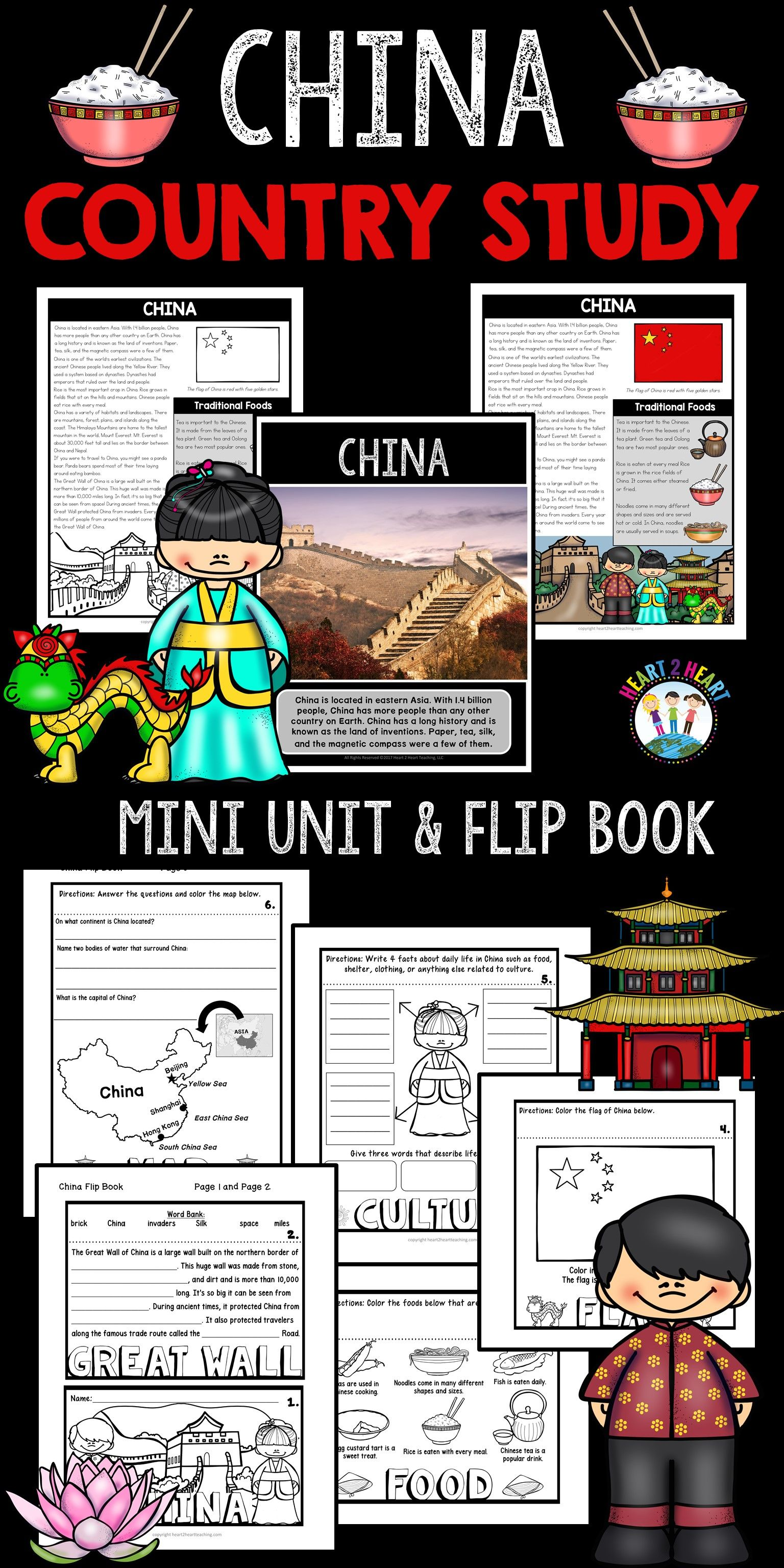 China Country Study A Mini Unit Amp Flip Book