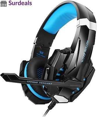 Cheap Gaming Headset ArkarTech For Playstation 4 PC Xbox One Laptop Mac  Nintendo Switch Computer Games Noise Isolation  LED Light  Bass Surround  Stereo  ... fef063f3fe