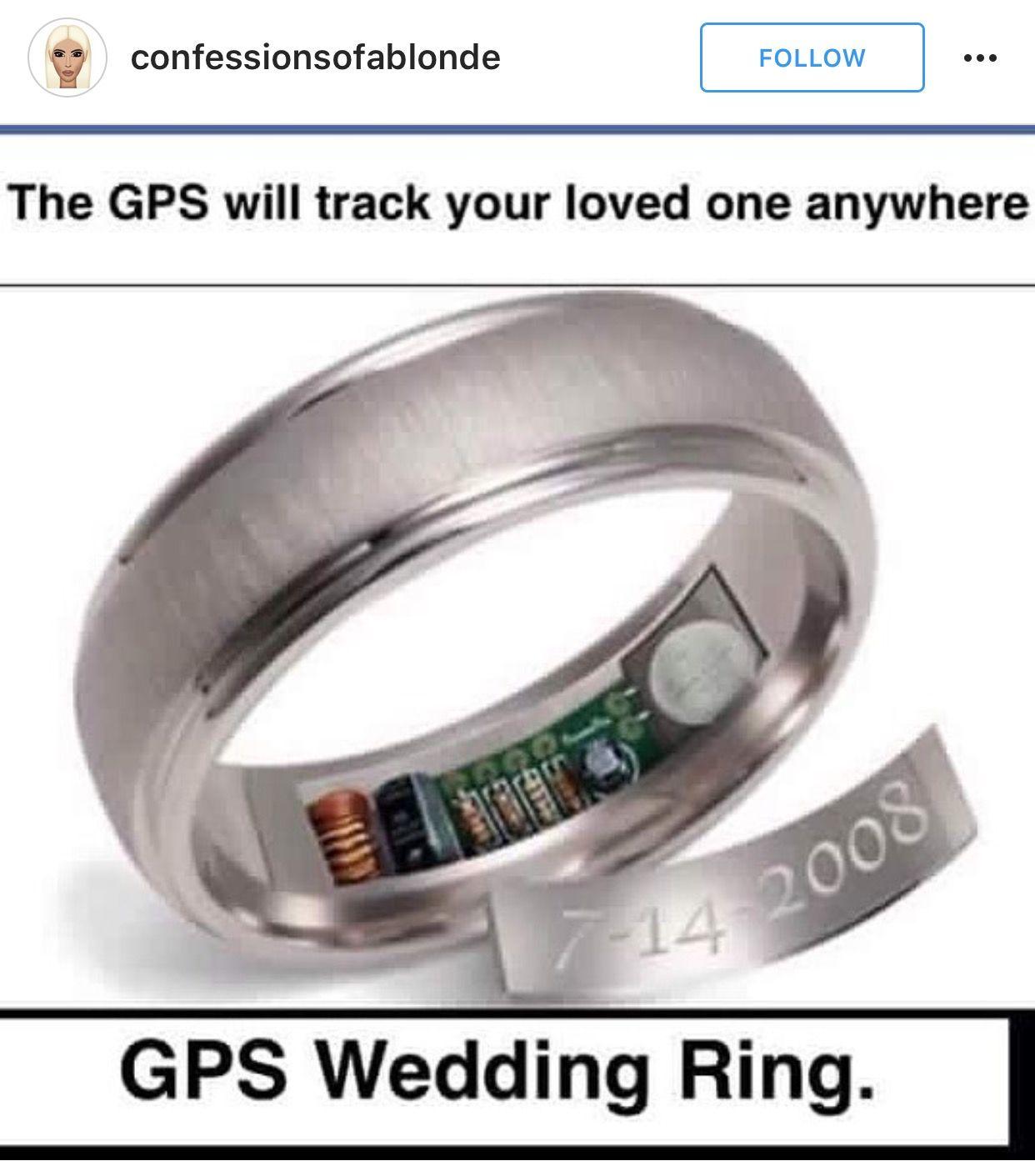 Gps Wedding Ring Rings Rings For Men Wedding Rings