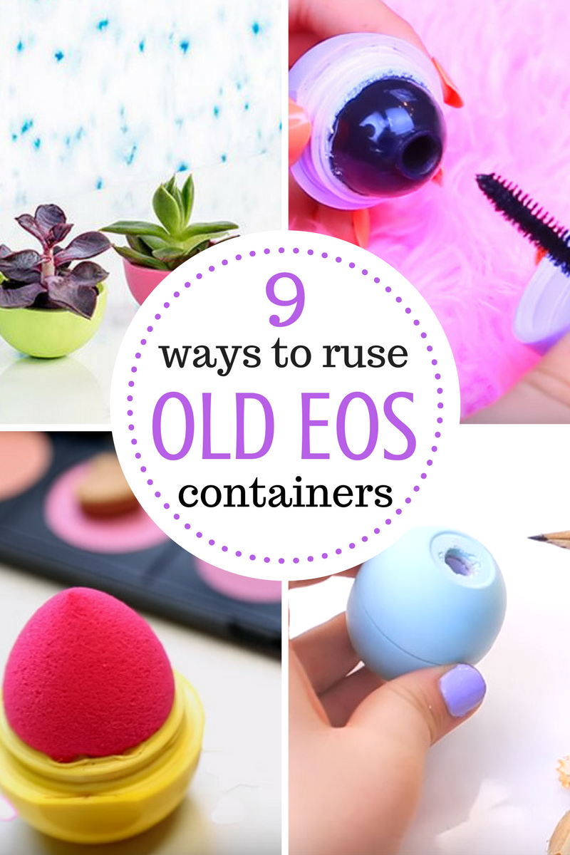 Balm christmas gift turn old eos containers into cool crafts ideas - 9 Ways To Reuse Old Eos Containers