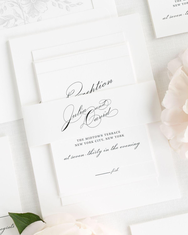 Vintage Glam Wedding Invitations   wedding dress   Pinterest   Belly ...