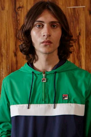 e2c628804cfc Fila Men s Cipolla Kelly Green Yoke Jacket