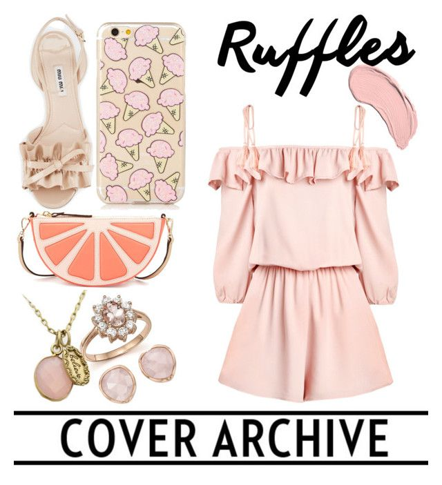 """Casual ruffles"" by martha-qn18 ❤ liked on Polyvore featuring Monica Vinader, NYX, Bloomingdale's, Kate Spade, Miu Miu and ruffles"