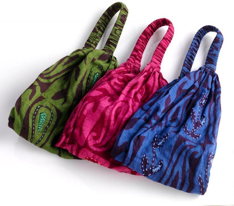 Jewel-Tone Batik Headband Set