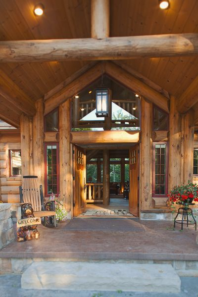 Featured Log Home  Timber Frame Home Construction Projects by
