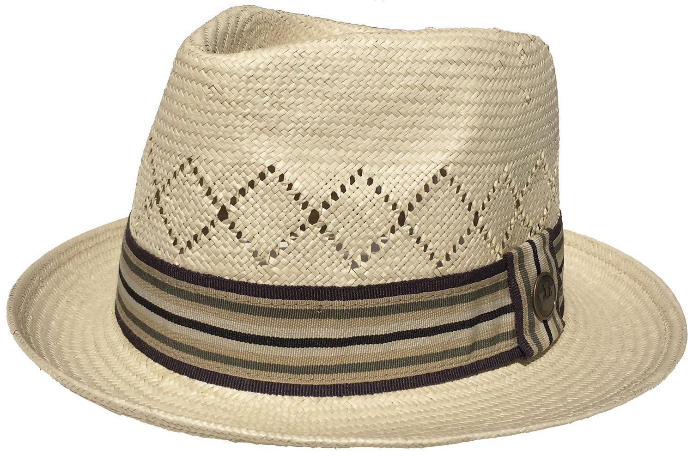 Vintage Goorin Bros Etienne Straw Fedora Vented C Crown at Headchange.com e6aa3929d5f4