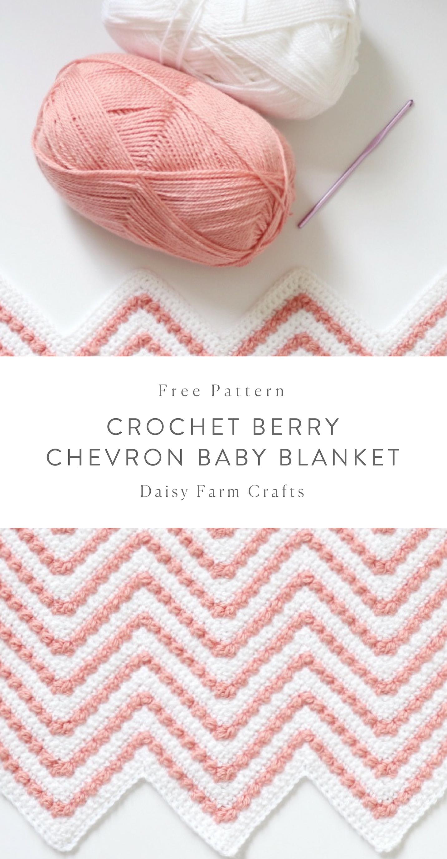 Free Pattern - Crochet Berry Chevron Baby Blanket | Crochet projects ...