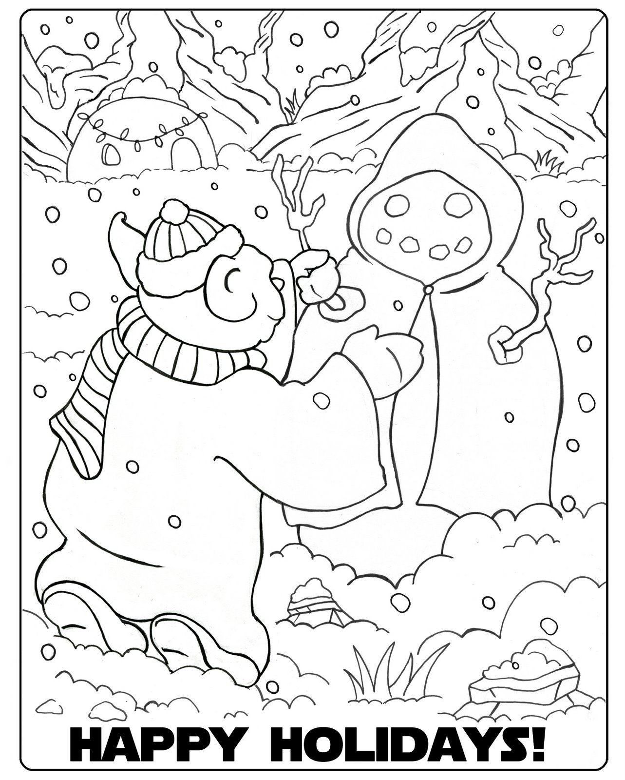 The Scrappy Jedi Geek Girl Geek The Halls Mandala Coloring Pages Christmas Coloring Pages Mandala Coloring