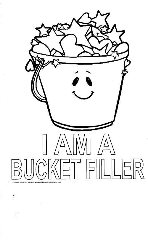 Bucket filler coloring sheet Bucket Fillers Pinterest