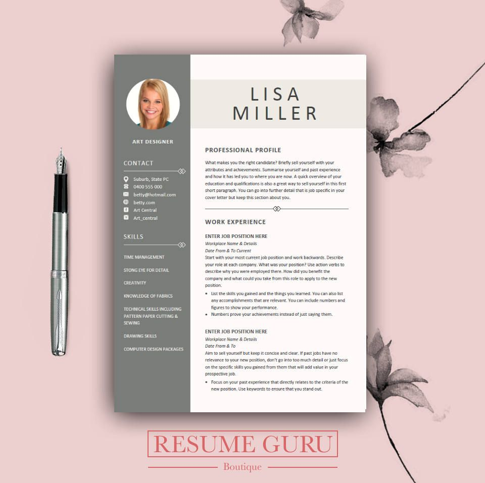 Resumeguruboutique  Polo    Teacher Resume Template A
