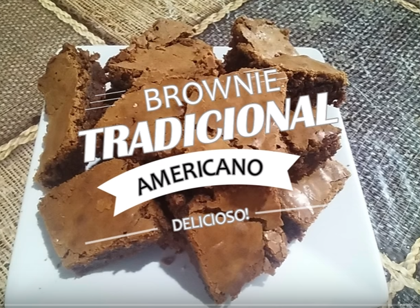 Como fazer o Brownie Tradicional Americano!!