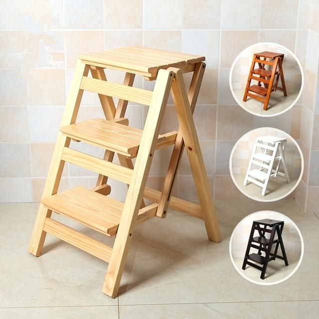 Superbe Mesmerizing Folding Chair Step Stool Multi Functional Ladder Stool Chair  Bench Seat Wood Step Stool Folding
