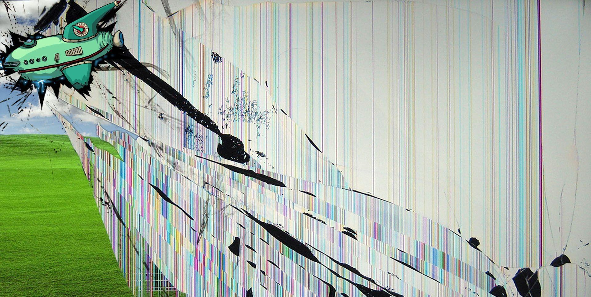 Broken Screen Wallpaper Windows Xp 4K