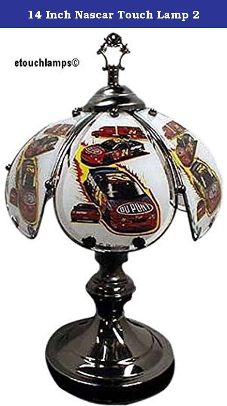 14 Inch Nascar Touch Lamp 2 Standing Tall The Base Has A Black