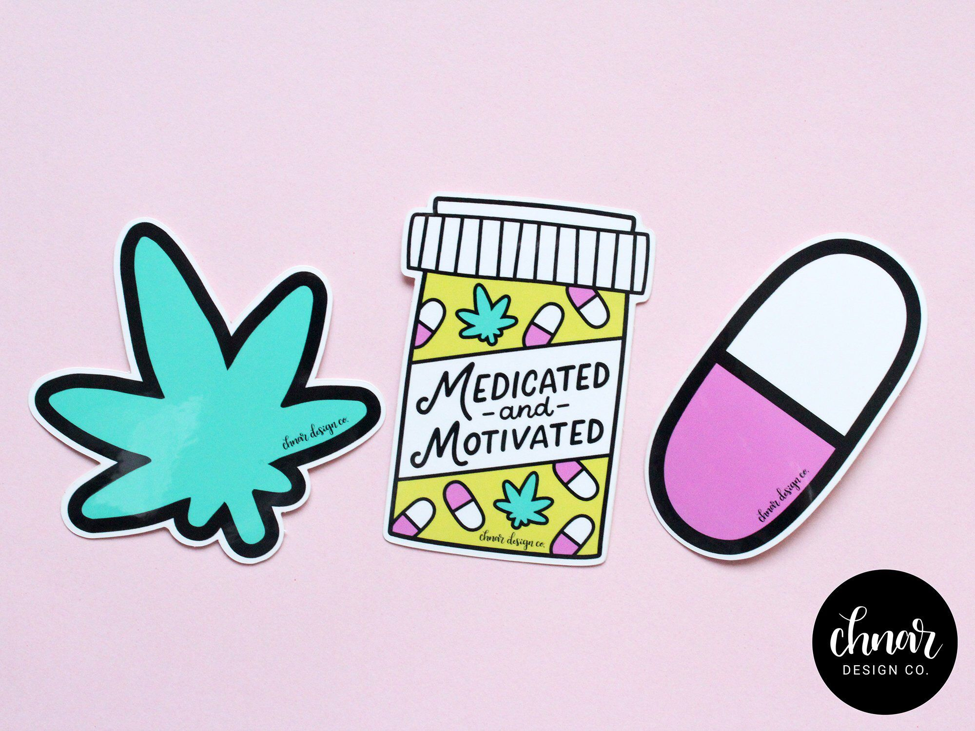 Medicated and Motivated Vinyl Stickers Etsy Vinyl