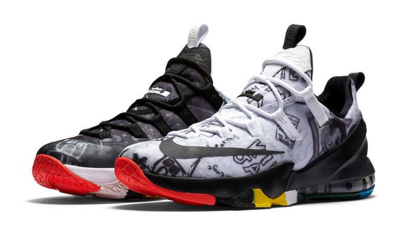 1766b316afbf Nike LeBron 13 Low QS Limited LeBron James Family Foundation Graffiti 849783 -999